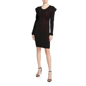 Womens NWT Milly Pointelle Lace Drape Sleeve Dress